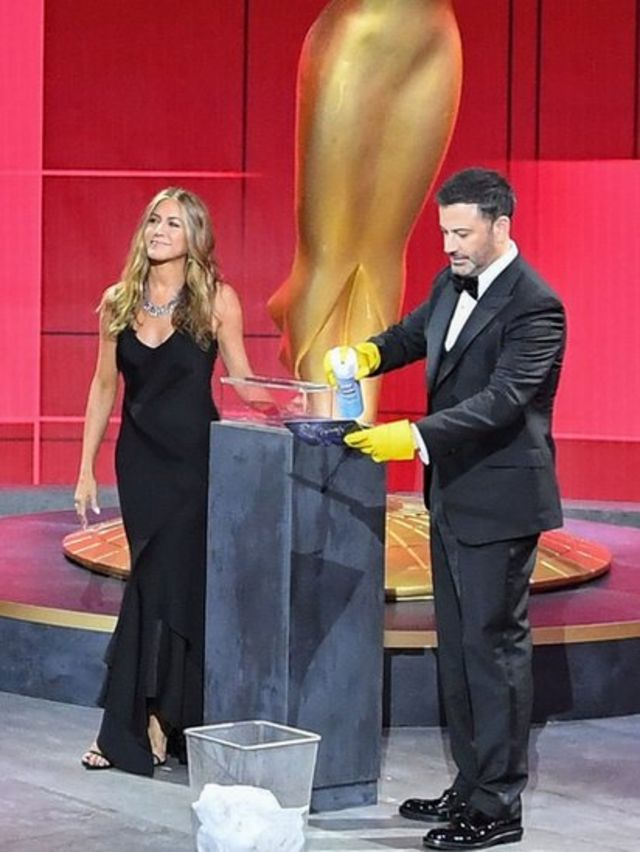 Jennifer Aniston y Jimmy Kimmel
