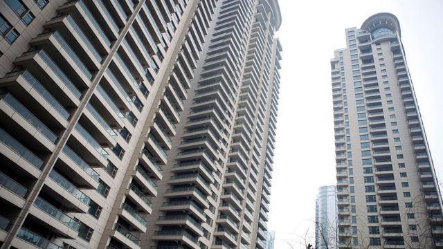 Apartamentos vazios na China