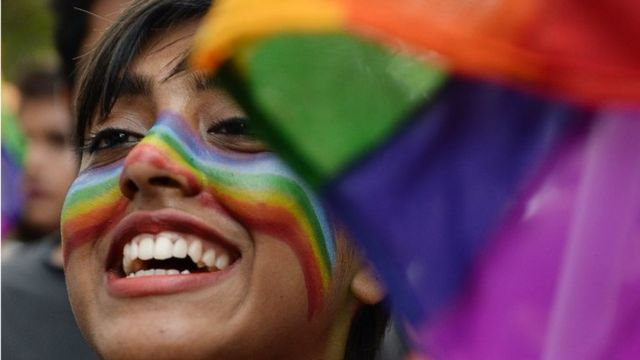 In this file photo taken on June 24, 2018 an Indian supporter of the lesbian, gay, bisexual, transgender (LGBT) community takes part in a pride parade in Chennai.