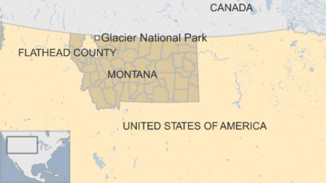 グレイシャー国立公園(Glacier National Park)の位置