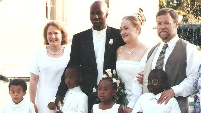 Rachel Dolezal's family on her wedding day in 2000