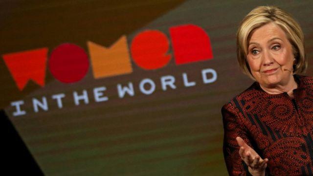 Hillary Clinton fala no evento Women In the World, em Nova Iorque