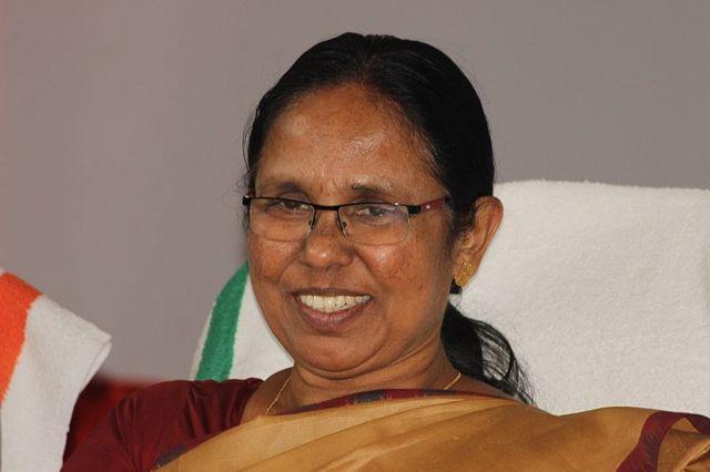 KK Shailaja, la ministra de Salud de Kerala