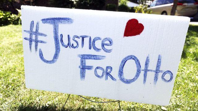Cartel pidiendo justicia para Otto Warmbier