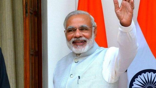भारतीय प्रधानमंत्री नरेंद्र मोदी.