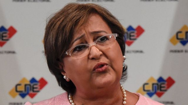 Tibisay Lucena, presidenta del CNE