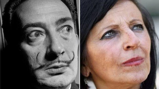 Salvador Dali babalık davası açan kadınlar kolaj