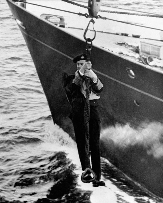 Prince Philip during his naval days