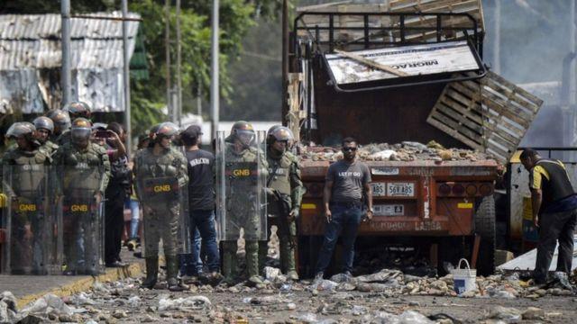 احتجاجات في فنزويلا