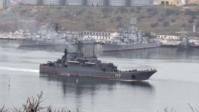 سفن عسكرية روسية