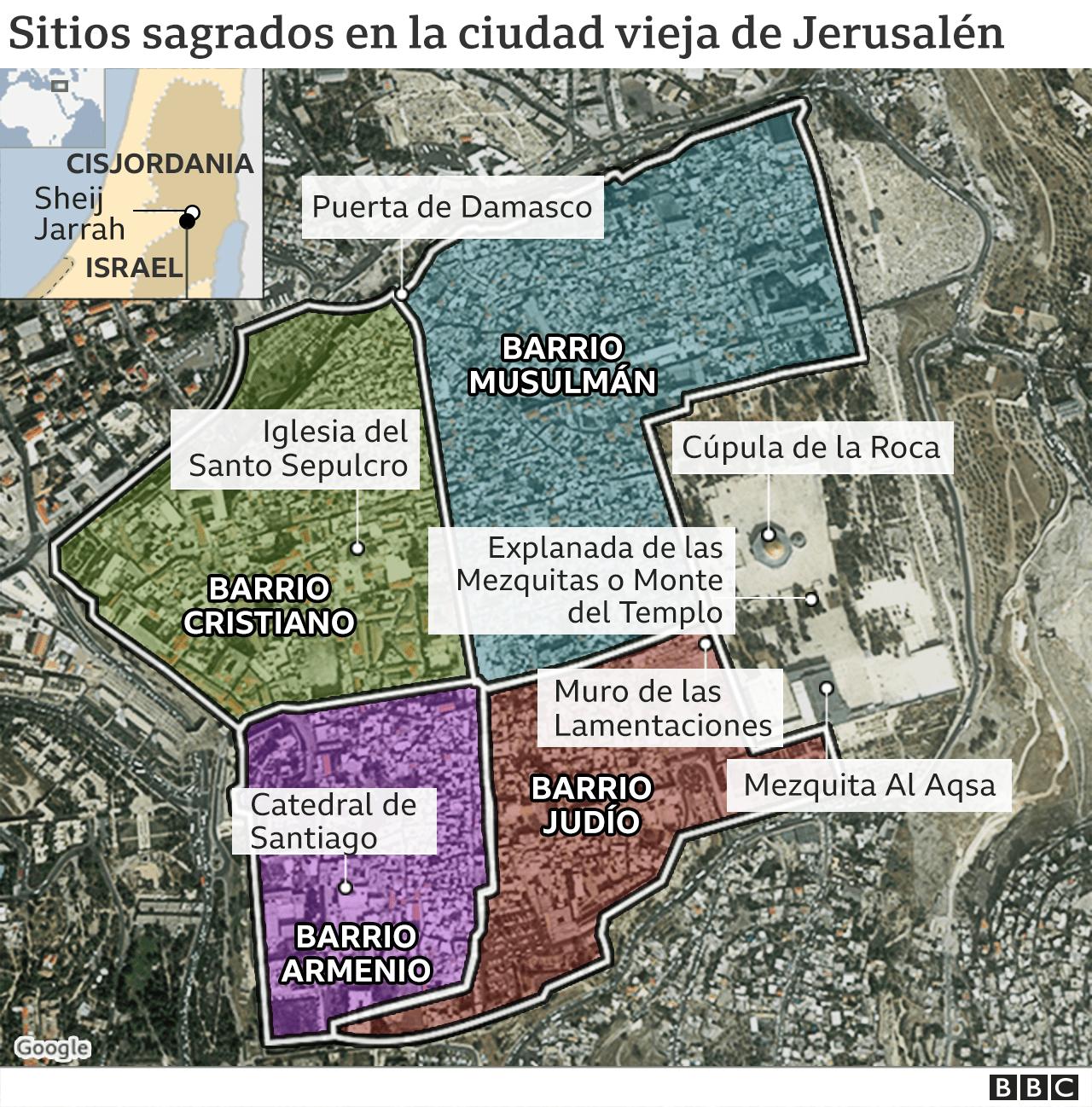 Jerusalem Old City Map