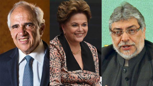 Samper, Rousseff y Lugo