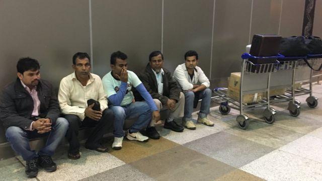 सऊदी अरब से लौटे भारतीय कामगर