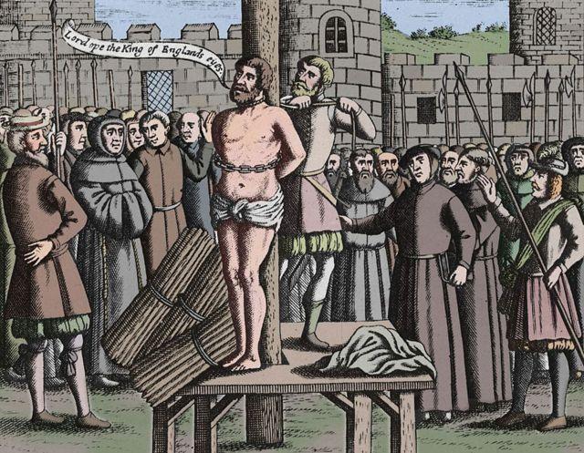 """Deus, abra os olhos do rei da Inglaterra"", disse Tyndale pouco antes de ser queimado vivo"