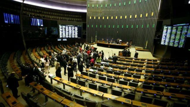O plenário da Câmara dos Deputados