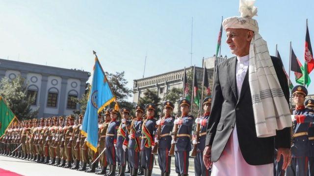 Afganistan Devlet Başkanı Eşref Ghani, hükümet güçlerinin artık militanları uzak tutabilecek kapasiteye sahip olduğunu söylüyor