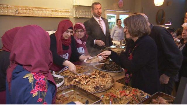 Syrian refugees in Aberystwyth set up pop-up restaurants