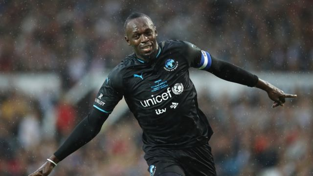 Usain Bolt playing in charity match in England in June