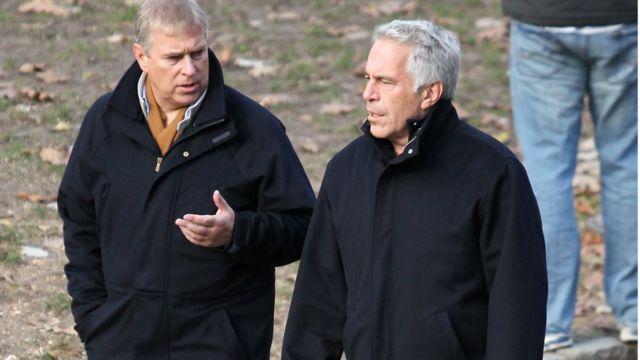 El príncipe Andrew y Jeffrey Epstein