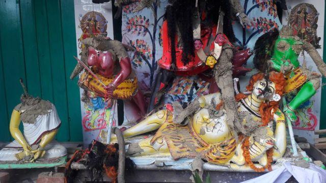 নাসিরনগরের আক্রান্ত একটি মন্দির