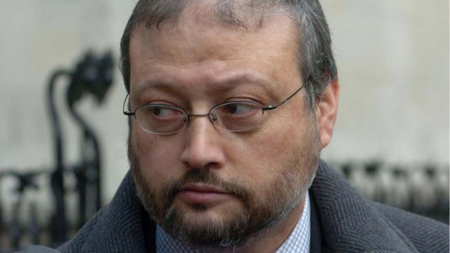 Jamal Khashoggi pictured in 2004