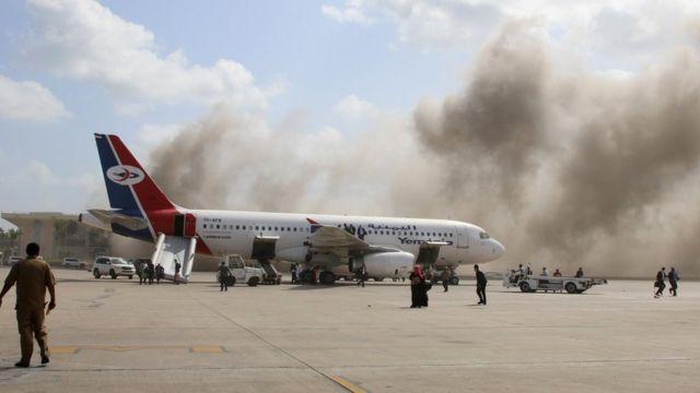 После взрыва в аэропорту Саны