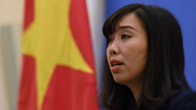 """Phát ngôn viên Bộ Ngoại giao Lê Thị Thu Hằng nói Việt Nam tôn trọng ''chính sách một Trung Quốc""""."""