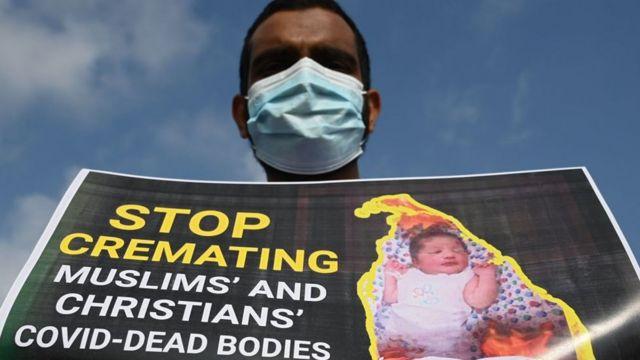 فيروس كورونا: غضب شعبي بعد حرق سلطات سريلانكا جثمان رضيع مسلم