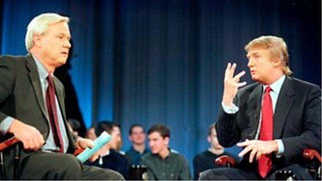 改革党の展望についてMSNBCのクリス・マシューズに話すトランプ
