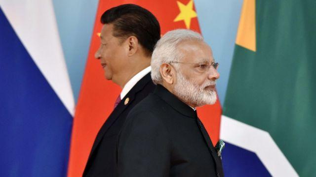 中國和印度同為金磚五國成員,但往往視對方為南亞地區的競爭對手。