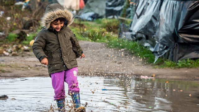 Child at the 'Jungle' in Calais