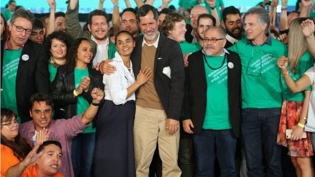 Marina Silva e Eduardo Jorge em evento que o confirmou como vice na chapa da presidenciável da Rede
