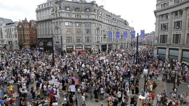 London protest against Donald Trump
