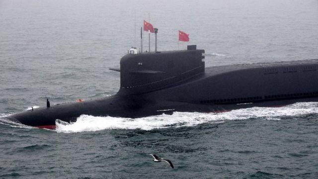 中国新型战略核潜艇:报道说中国至少有6艘装备了洲际弹道导弹的核潜艇(photo:BBC)