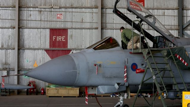英空軍の戦闘機。英議会は今月2日にシリア空爆を承認した