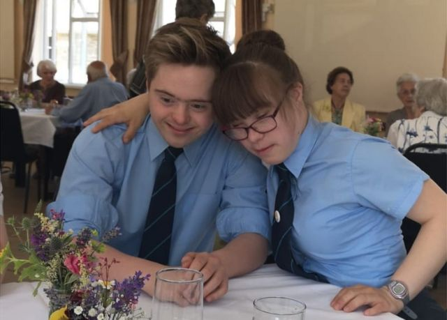 Teen couple with Down's syndrome voted prom king and queen