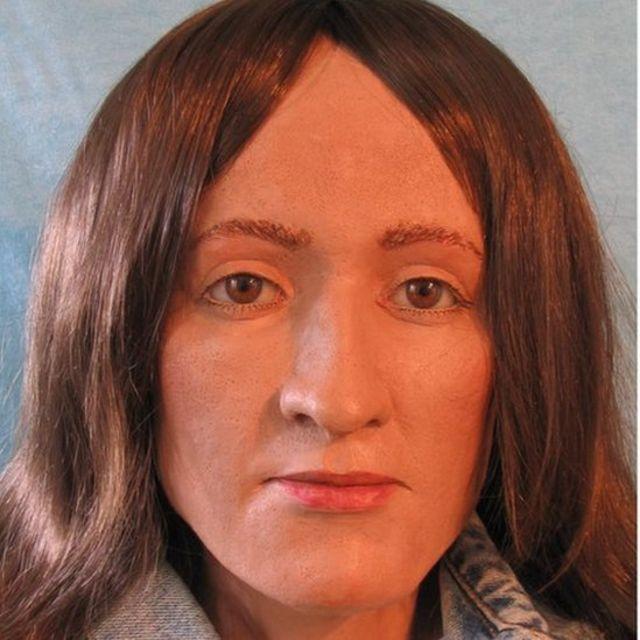 Com base no crânio de Grace, uma artista forense desenhou uma imagem de como ela poderia ter sido