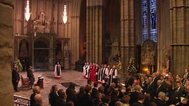 Service at Westminster Abbey