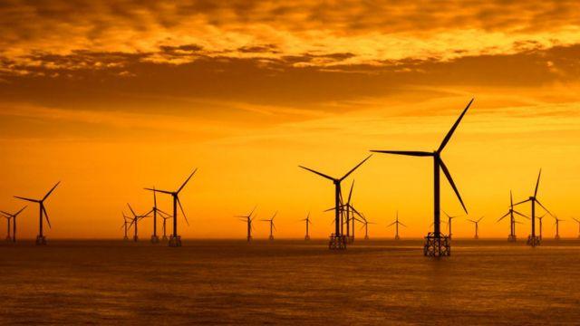 Ферма ветряков у берегов Бельгии