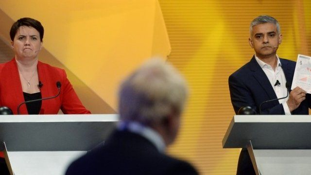 Scottish Conservative leader Ruth Davidson and Mayor of London Sadiq Khan