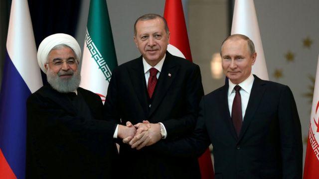Хасан Роухани, Реджеп Тайип Эрдоган и Владимир Путин