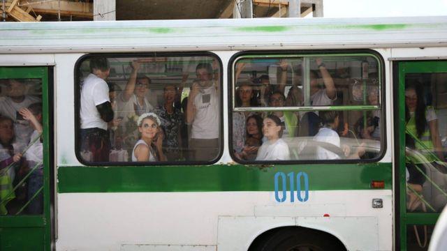 Активисты в автобусе