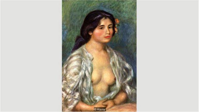 Gabrielle com Blusa Aberta, de Pierre-Auguste Renoir