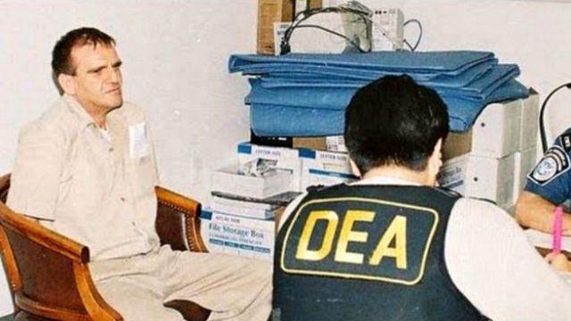 """""""El Güero"""" Palma con un agente de la DEA."""