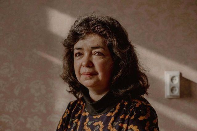 Qelbinur Sedik at her home in the Netherlands this week