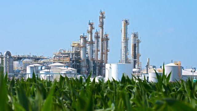 Planta de producción de biocombustibles
