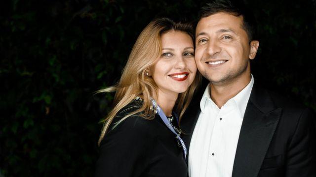 Володимир та Олена Зеленські