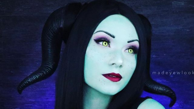 Lex paints herself as Disney character Maleficent as a Disney Princess