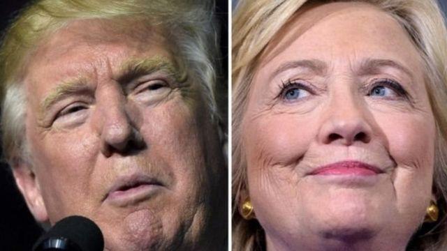 ट्रंप और क्लिंटन
