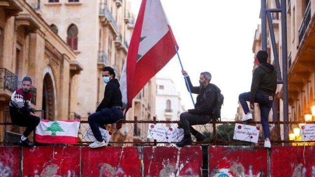 Lübnan'daki bir protesto gösterisi